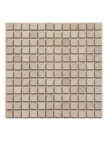 Mosaique travertin beige antico 1er choix