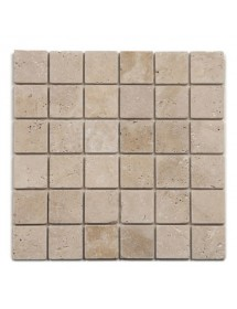 Mosaique travertin beige antico 1er choix