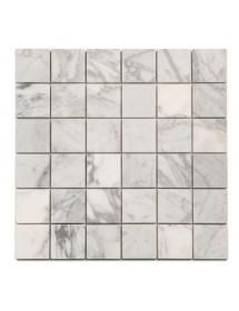 Mosaique marbre blanc de Carrare adoucie