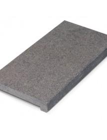 Margelle granit gris flammée brossée pierre naturelle piscine