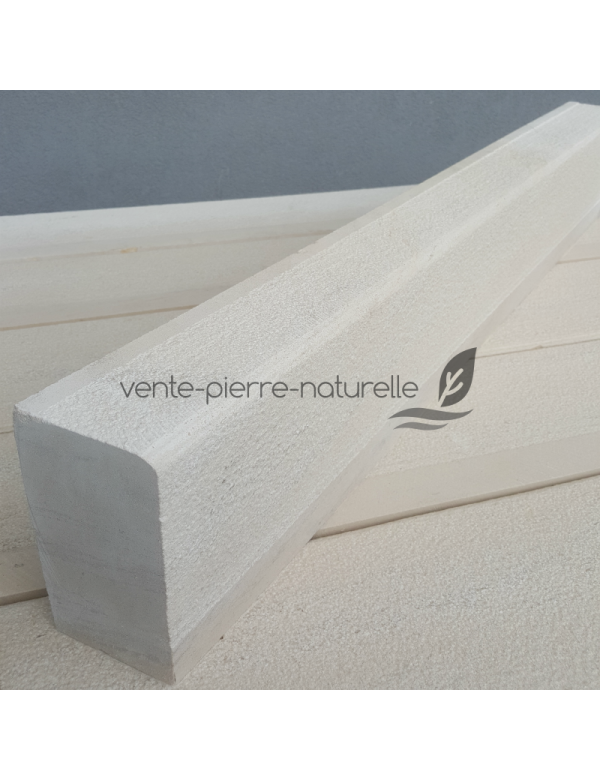 Bordure calcaire beige