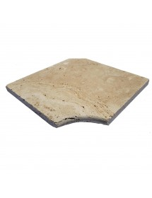 margelle angle - travertin - pierre calcaire