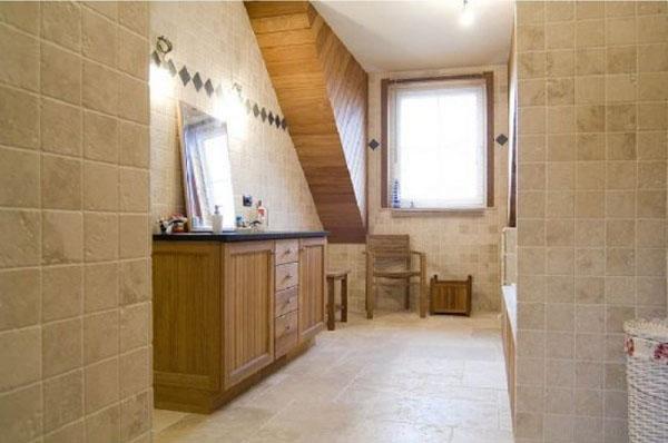 salle de bain murs sols travertin pierre naturelle